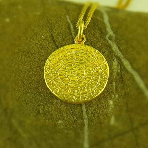 ancient greek silver coin pendants, phaistos disc coin pendant, Ancient Greek silver coin, ancient greek jewelry