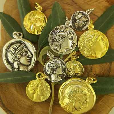 Ancient Greek Silver Coins & Pendants