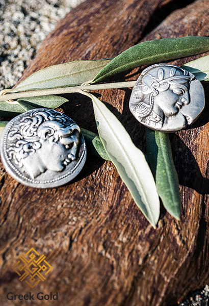 ancient Greek silver coins pendants -ancient Silver Coin Pendant greek coins pendants jewelry