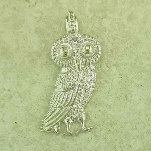 Ancient Greek silver pendants, Goddess Athena & Wise Owl coin pendant, Ancient Greek silver coin, Ancient Greek jewelry, Museum ancient jewelry reproductions