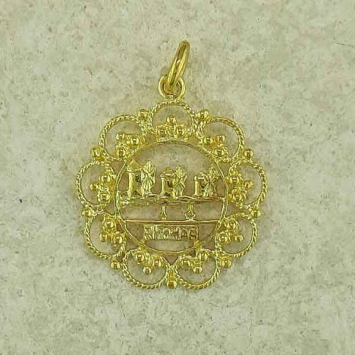Windmills of Rhodes pendant, Greek traditional filigree Rhodes jewelry gold plated & silver pendants, traditional Greek silver pendants, traditional Greek jewelry