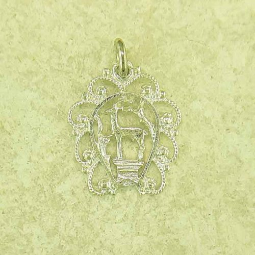 Greek traditional filigree Rhodes jewelry gold plated & silver pendants, Deer of Rhodes pendant, traditional Greek silver pendants, traditional Greek jewelry