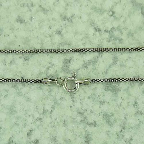 Oxidized Silver chain, sterling silver 925 chain