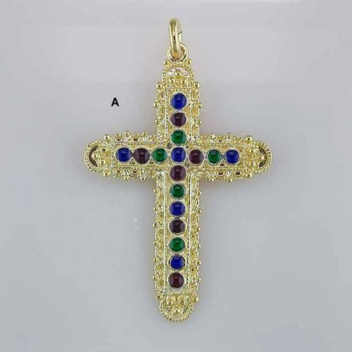 Byzantine Cross-Orthodox cross-Baptism crosses-Gold & Silver Crosses-Greek Cross-Greek Jewelry-Greek Gold