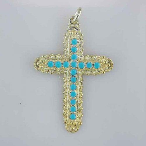 Byzantine Cross-Orthodox cross-Baptism crosses-Gold & Silver Crosses-Greek Cross-Greek Jewelry-Greek Gold