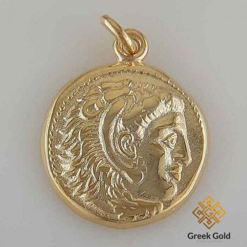 Alexander the Great-Ancient Greek coin pendants –Ancient silver coin pendant-Greek Jewelry-Greek pendants-Greek museum reproduction