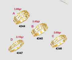 Greek key gold rings-Greek Jewelry-Meander ring-Greek gold rings-Greek jewellery 14K gold