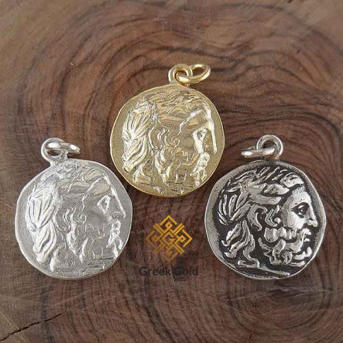 Philip II Macedon coin-Ancient Greek coin pendants –Ancient silver coin pendant-Greek Jewelry-Greek pendants-Greek museum reproduction