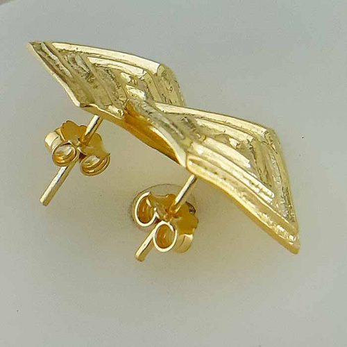 Greek Key earrings-Meander earrings-Greek Jewelry-Greek key gold earrings